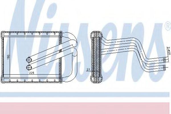 Теплообменник, отопление салона NISSENS арт. 77536