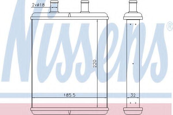 Радіатор пічки Nissens 71817