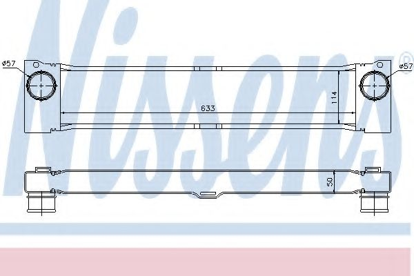 Интеркулер NISSENS арт. 96730