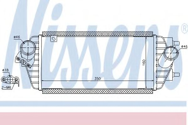 Интеркулер NISSENS арт. 96456