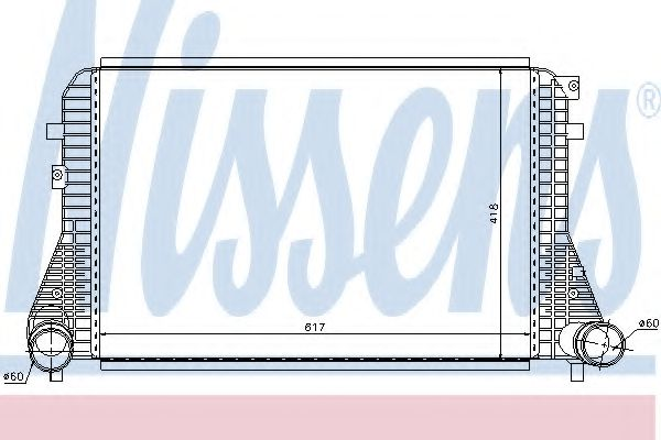 Интеркулер NISSENS арт. 96568