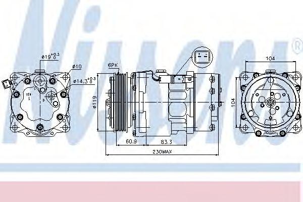 Компресор кондиціонера Nissens 89032