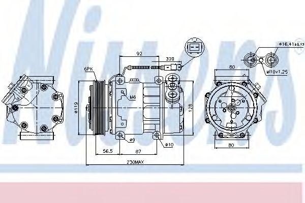 Оборудование для СТО Компрессор, кондиционер NISSENS арт. 89047
