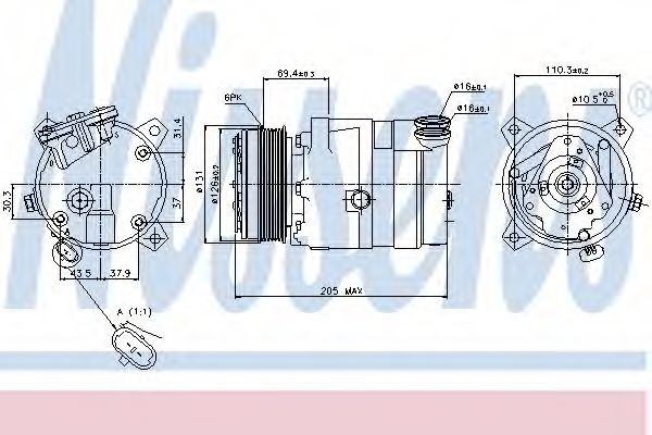 Компресор кондиціонера Nissens 89062
