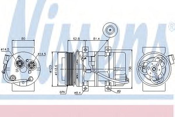 Оборудование для СТО Компрессор, кондиционер NISSENS арт. 89069