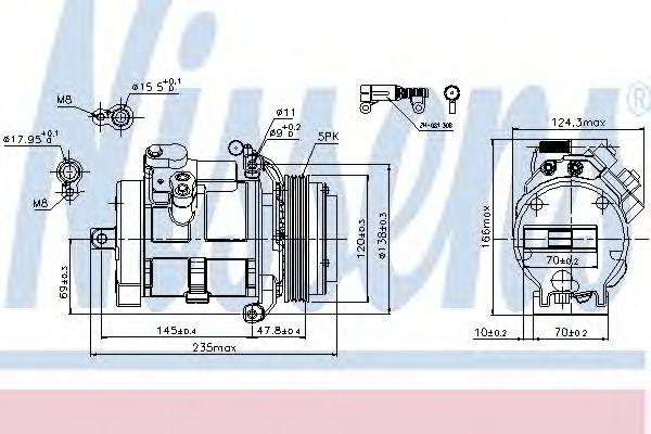 Оборудование для СТО Компрессор, кондиционер NISSENS арт.