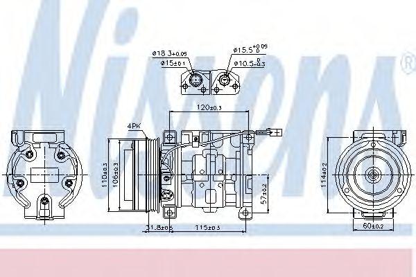 Оборудование для СТО Компрессор, кондиционер NISSENS арт. 89099