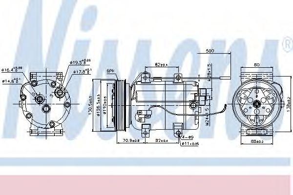 Оборудование для СТО Компрессор, кондиционер NISSENS арт. 89101