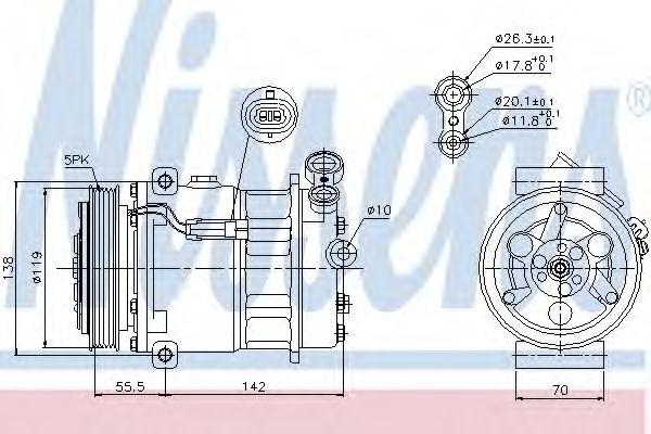 Оборудование для СТО Компрессор, кондиционер NISSENS арт. 89157