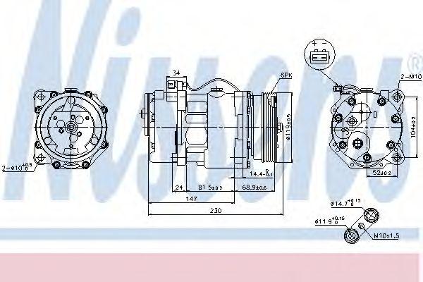 Компресор кондиціонера Nissens 89165