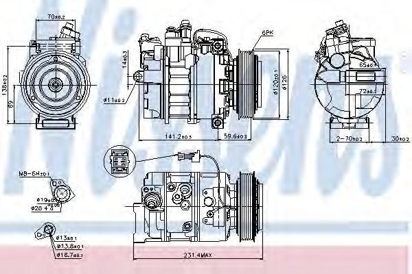 Оборудование для СТО Компрессор, кондиционер NISSENS арт. 89208