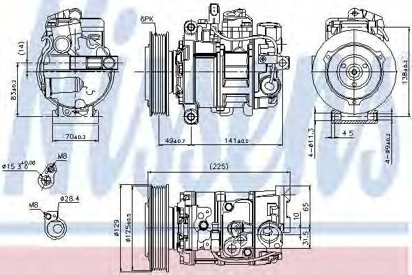 Оборудование для СТО Компрессор, кондиционер NISSENS арт. 89209