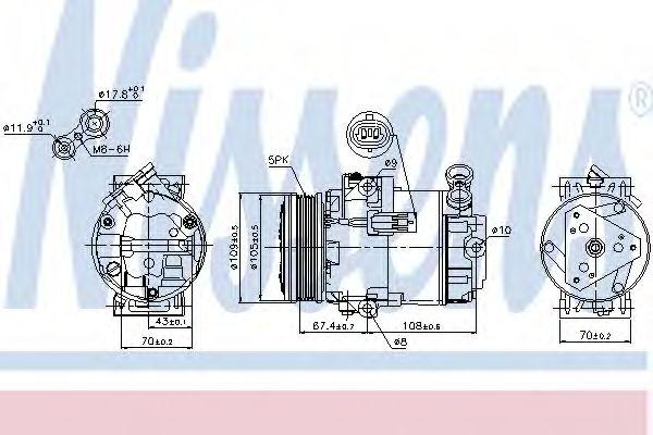 Оборудование для СТО Компрессор, кондиционер NISSENS арт. 89215