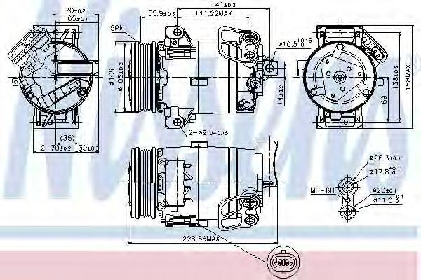 Оборудование для СТО Компрессор, кондиционер NISSENS арт. 89216