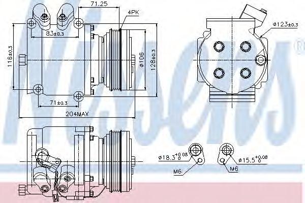 Оборудование для СТО Компрессор, кондиционер NISSENS арт. 89226