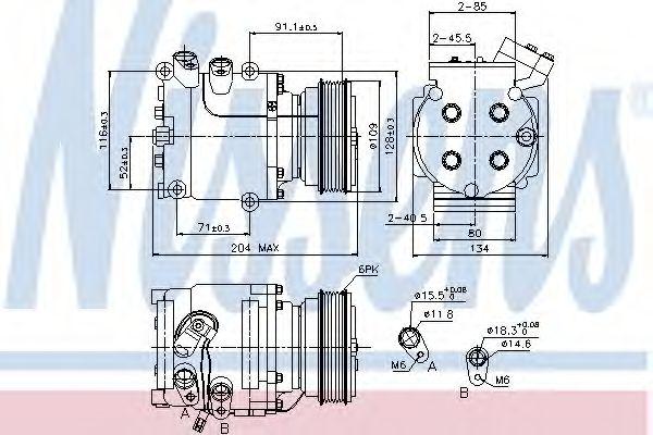 Оборудование для СТО Компрессор, кондиционер NISSENS арт. 89233