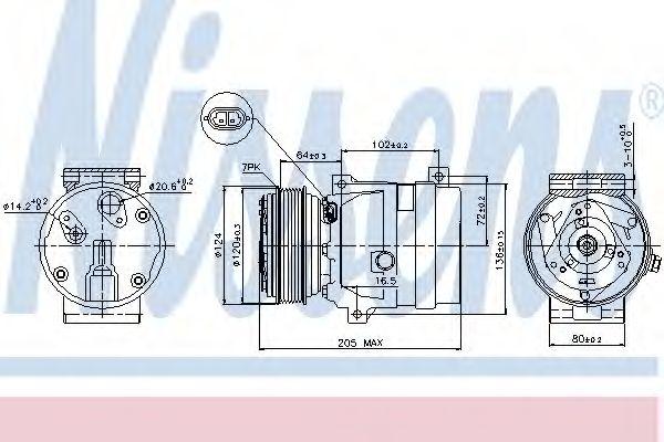 Оборудование для СТО Компрессор, кондиционер NISSENS арт. 89435