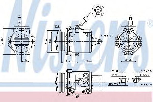 Оборудование для СТО Компрессор, кондиционер NISSENS арт. 89591