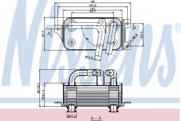 Масляный радиатор, автоматическая коробка передач NISSENS арт. 90623