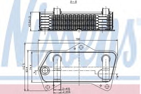 Масляный радиатор, автоматическая коробка передач NISSENS арт. 90653