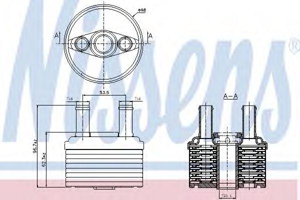 Масляный радиатор, автоматическая коробка передач NISSENS арт. 90664