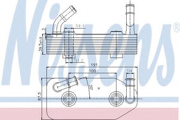 Масляный радиатор, автоматическая коробка передач NISSENS арт.