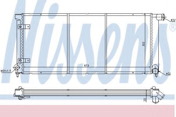 Радиатор, охлаждение двигателя NISSENS арт. 65175