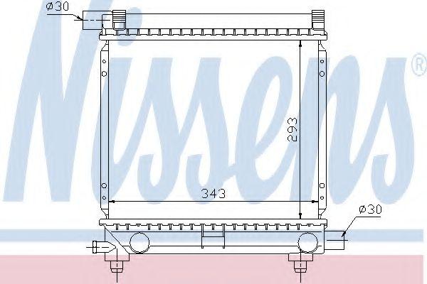 Радиатор, охлаждение двигателя NISSENS арт. 62551