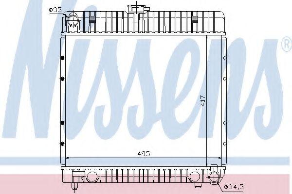 Радіатор охолоджування Nissens 62710