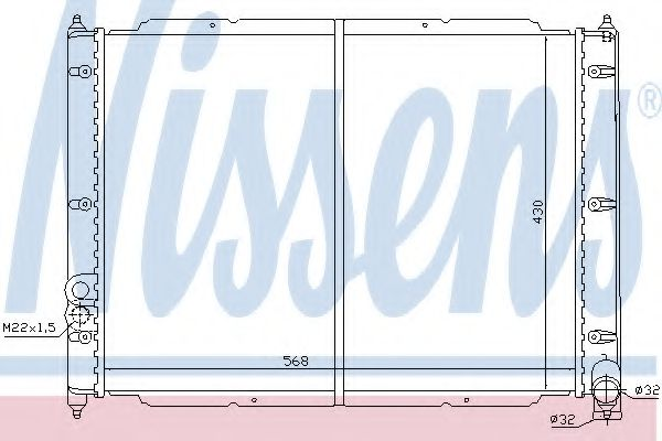 Радіатор охолоджування Nissens 65239