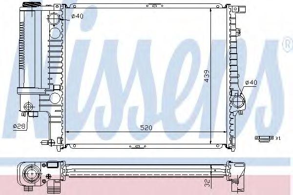 Радиатор, охлаждение двигателя NISSENS арт. 60743A