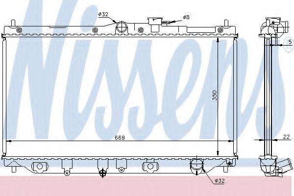 Радіатор охолоджування Nissens 62279A