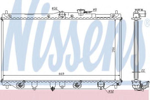 Радіатор охолоджування Nissens 622831
