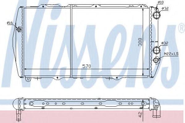 Радиатор, охлаждение двигателя NISSENS арт. 604551