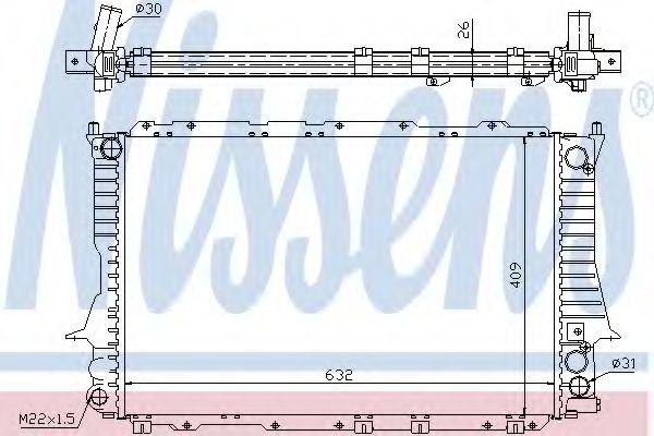 Радіатор охолоджування Nissens 60459