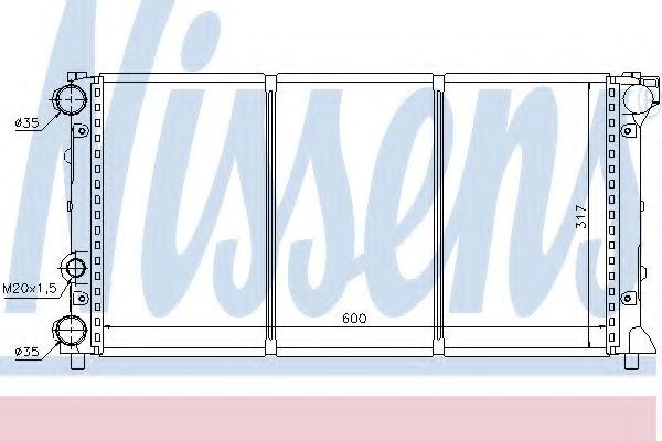 Радіатор охолоджування Nissens 64002