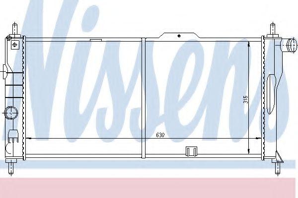 Радиатор, охлаждение двигателя Nissens - 632731