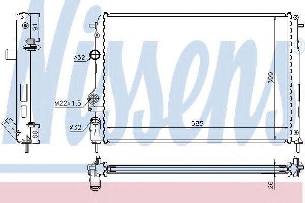 Радіатор охолоджування Nissens 63896A