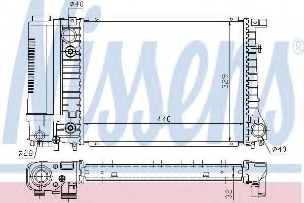 Радіатор охолоджування Nissens 60703A