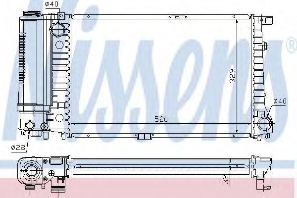 Радиатор, охлаждение двигателя NISSENS арт. 60736A