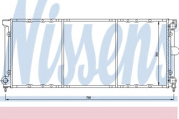 Радиатор, охлаждение двигателя Nissens - 651621