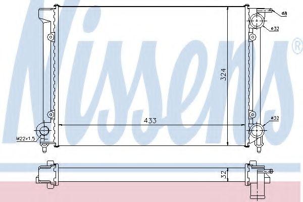 Радиатор, охлаждение двигателя NISSENS арт. 651811