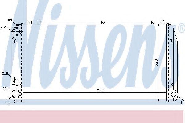 Радиатор, охлаждение двигателя Nissens - 604361