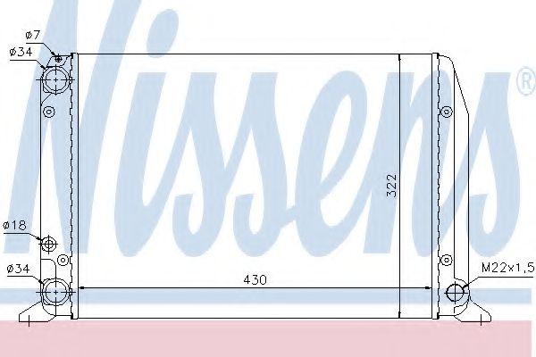 Радиатор, охлаждение двигателя NISSENS арт. 604611