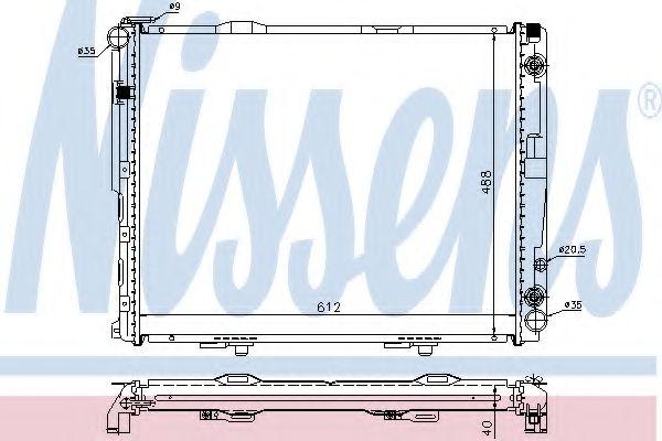 Радіатор охолоджування Nissens 62762A