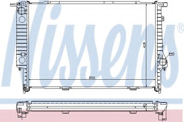 Радіатор охолоджування Nissens 60693A