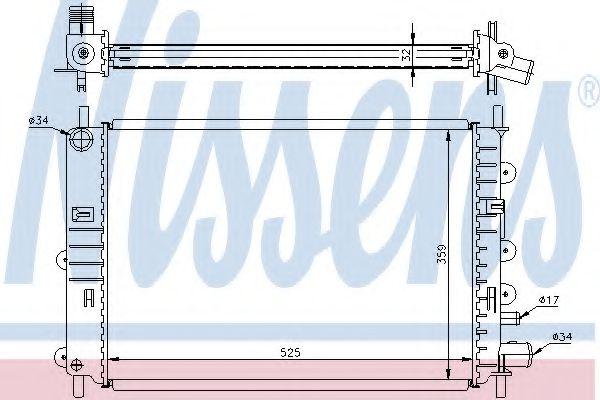 Радіатор охолоджування Nissens 62217A