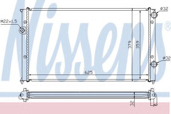 Радиатор, охлаждение двигателя NISSENS арт. 65243