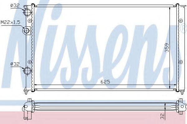 Радиатор, охлаждение двигателя NISSENS арт. 652451