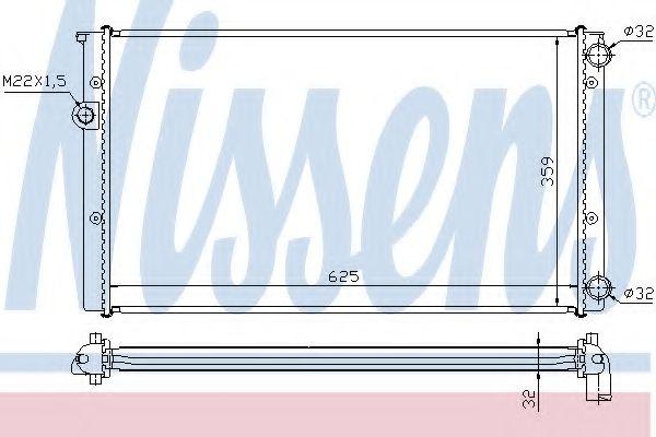 Радиатор, охлаждение двигателя NISSENS арт. 652471